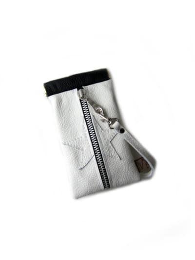 Cellphone case white leather flex frame