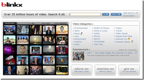 Blinks-video search engine