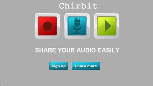 Chirbit-record audio for free copy
