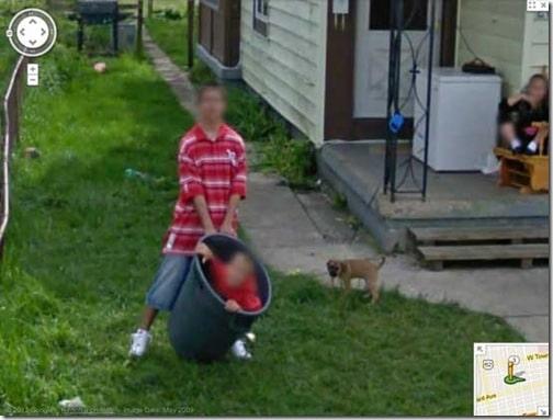 Kid in the trash