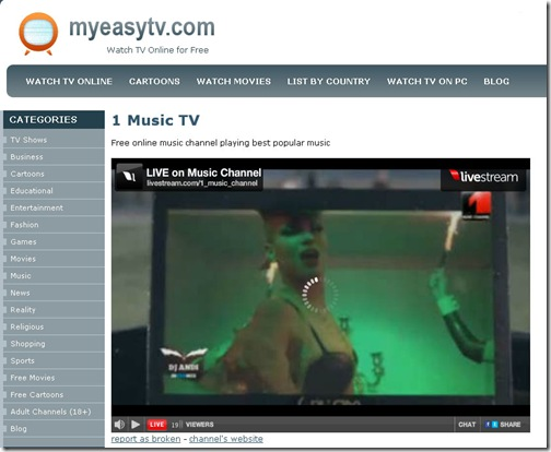 MyEasyTV-Free and Legal Online TV