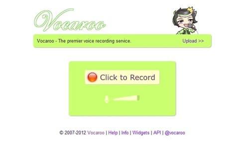 Vocaroo-Record voice online