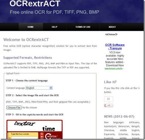OCR Extract
