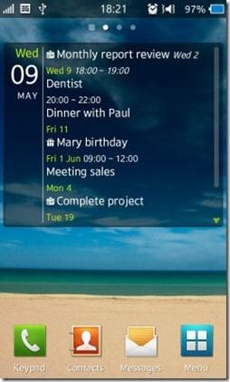 What's Next – Calendar and Task viewer widget2