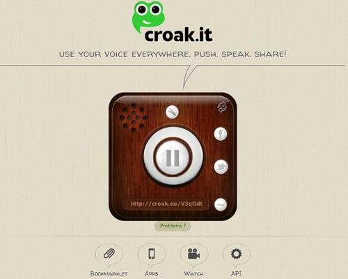 Croak it