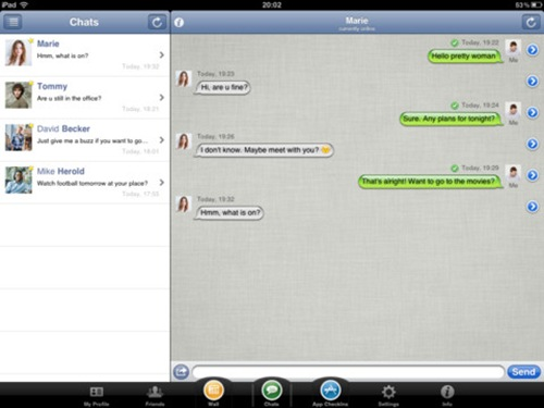 AppMe Chat Messenger for iPad 3