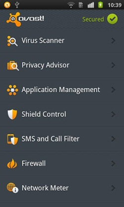 Avast! Mobile Security2