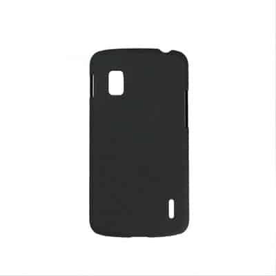Black PC Matte Skin Hard Cover Case for Google Nexus 4