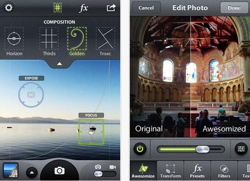 Camera awesome for iPhone 5