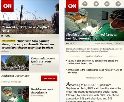 Cnn App for iPhone 5