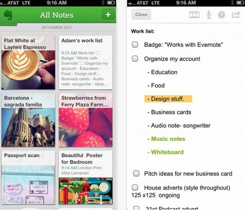 Evernote for iPhone 5