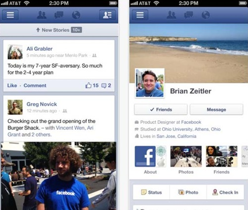 Facebook for iPhone 5