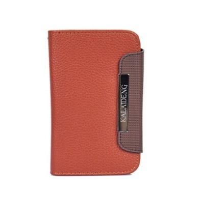 Genuine Brown Wallet Leather Case for LG galaxy Nexus 4