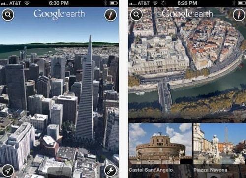 Google Earth for iPad 3