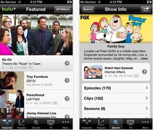 Hulu plus for iPhone 5