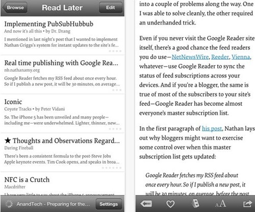 Instapaper for iPhone 5