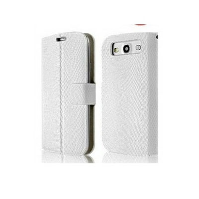 LG NEXUS 4 WHITE FLIP LEATHER CASE