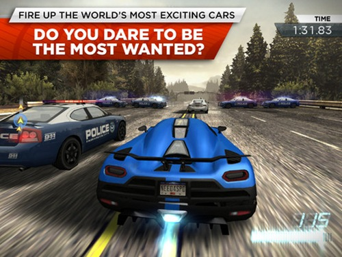 Need for Speed Most Wanted for iPad 3
