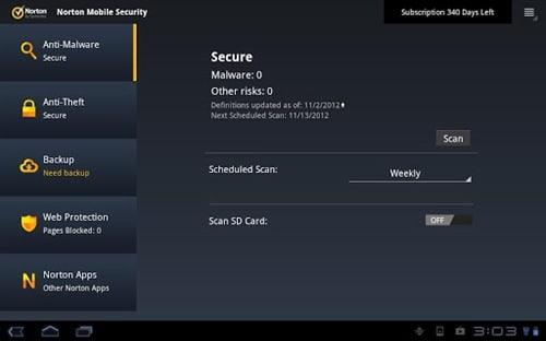 Norton antivirus & Security