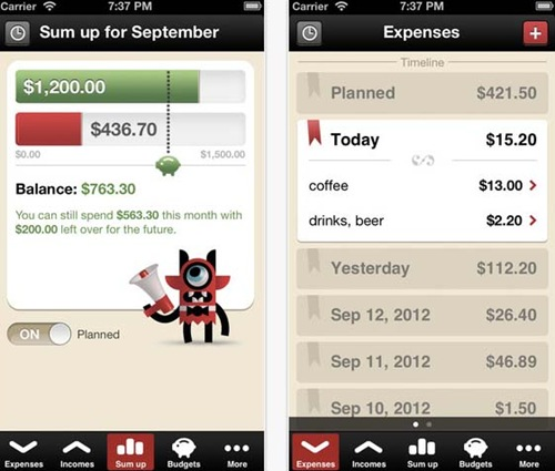 Toshl Finance for iPhone 5