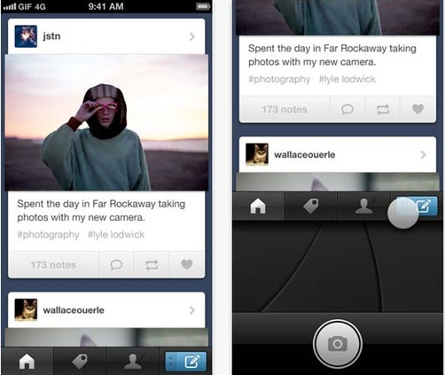 Tumblr for iPhone 5