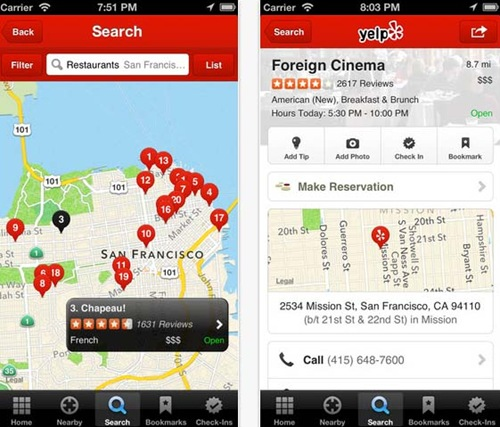 Yelp for iPhone 5