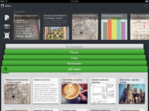 evernote for iPad 3