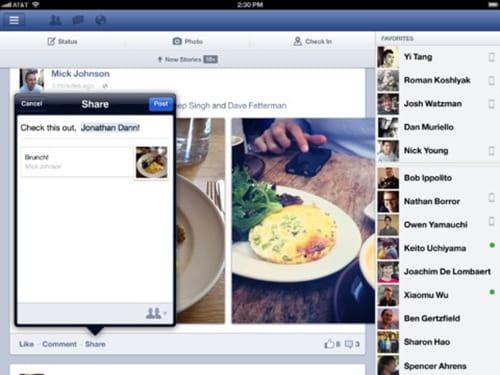 facebook for iPad 3