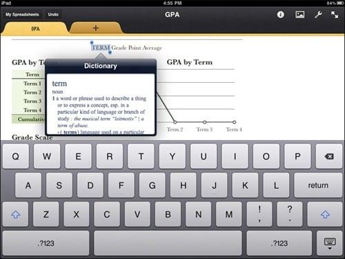 iwork for iPad 3