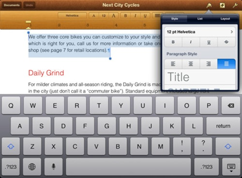 pages for iPad 3