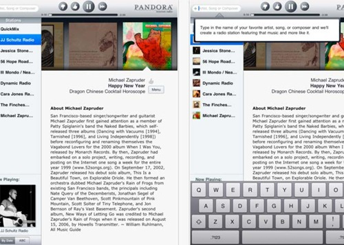 pandora radio for iPad 3