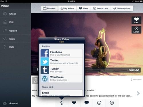 vimeo for iPad 3