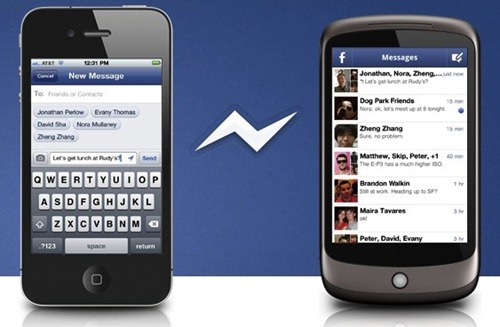 location on facebook messenger in android and iPhone