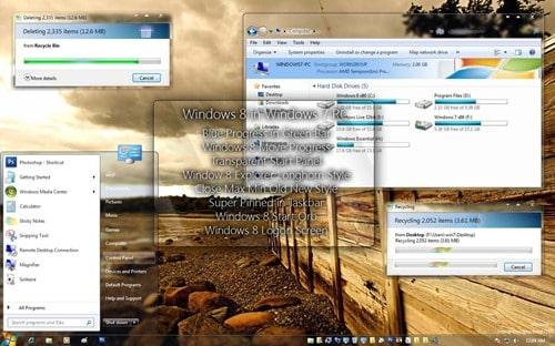Windows 8 Themes in Windows 7