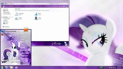 rarity- Windows 7 Theme