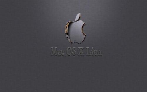 Hiding Behind- Mac OS Lion Wallpaper