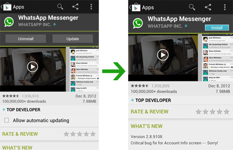 How to reinstall whatsapp history