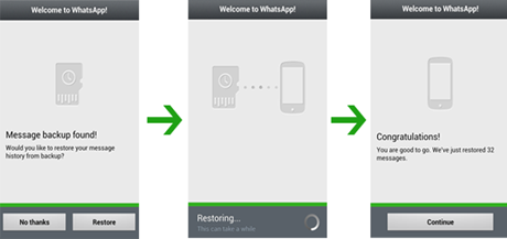 How to restore your whatsapp chat history