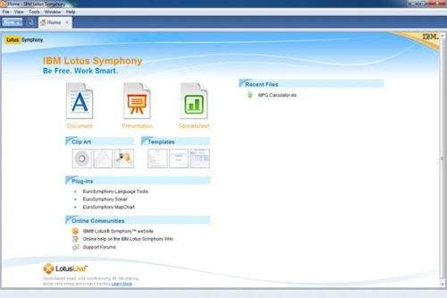 IBM Lotus Symphony for linux