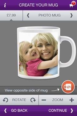 Photo Mug App for iPhone
