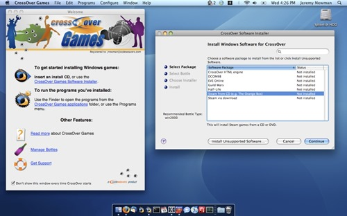 Play Windows games on a Mac with CrossOver