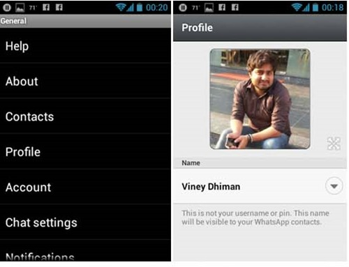 choose and edit whatsapp profile picture