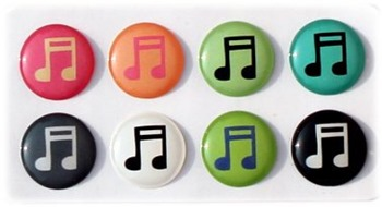 musical notes home button stickers