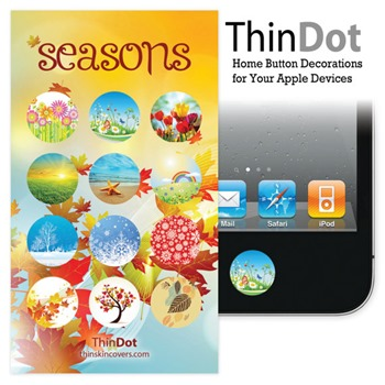 seasons home button stickers for iPhone