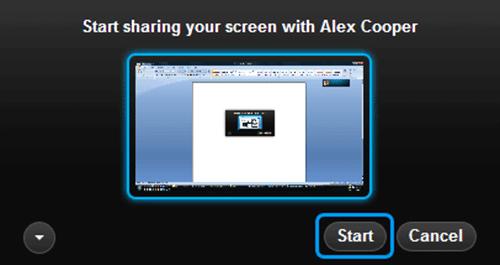Desktop Sharing on Skype 2