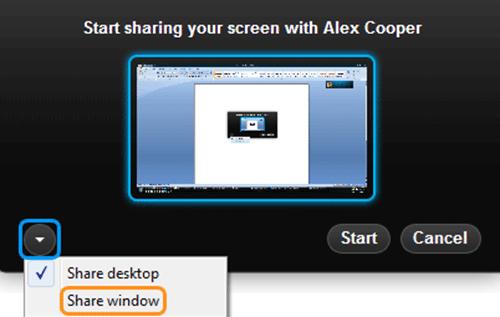 Desktop Sharing on Skype 3