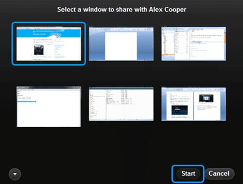Desktop Sharing on Skype 4