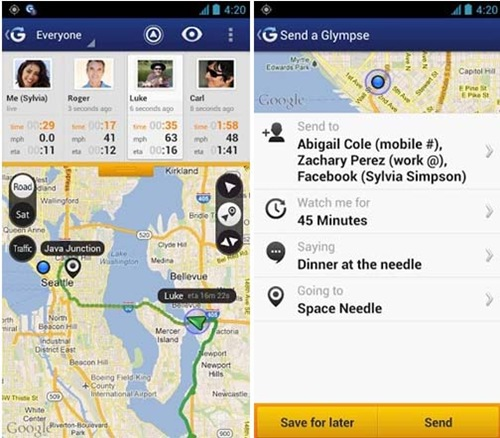 Glympse Navigation for android