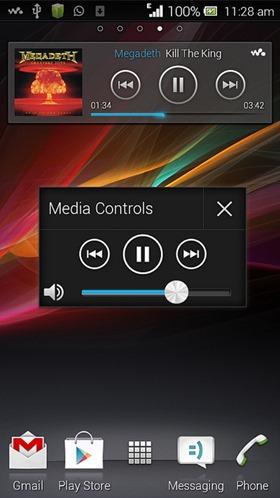 Media Controls Small App