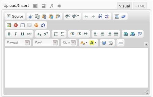 WordPress built-in editor
